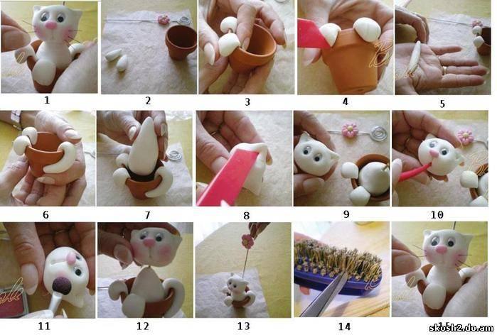 Холодный фарфор игрушки своими руками